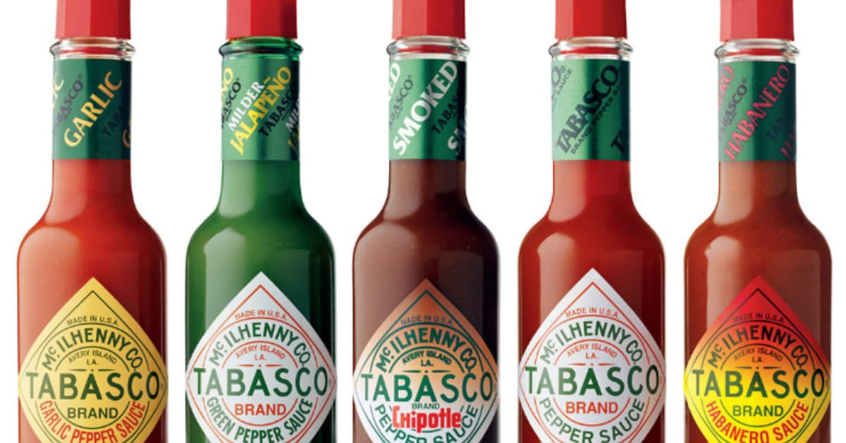 Getting hot, hot, hot with Tabasco sauce
