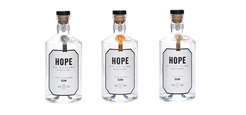 Hope on Hopkins' range of gins