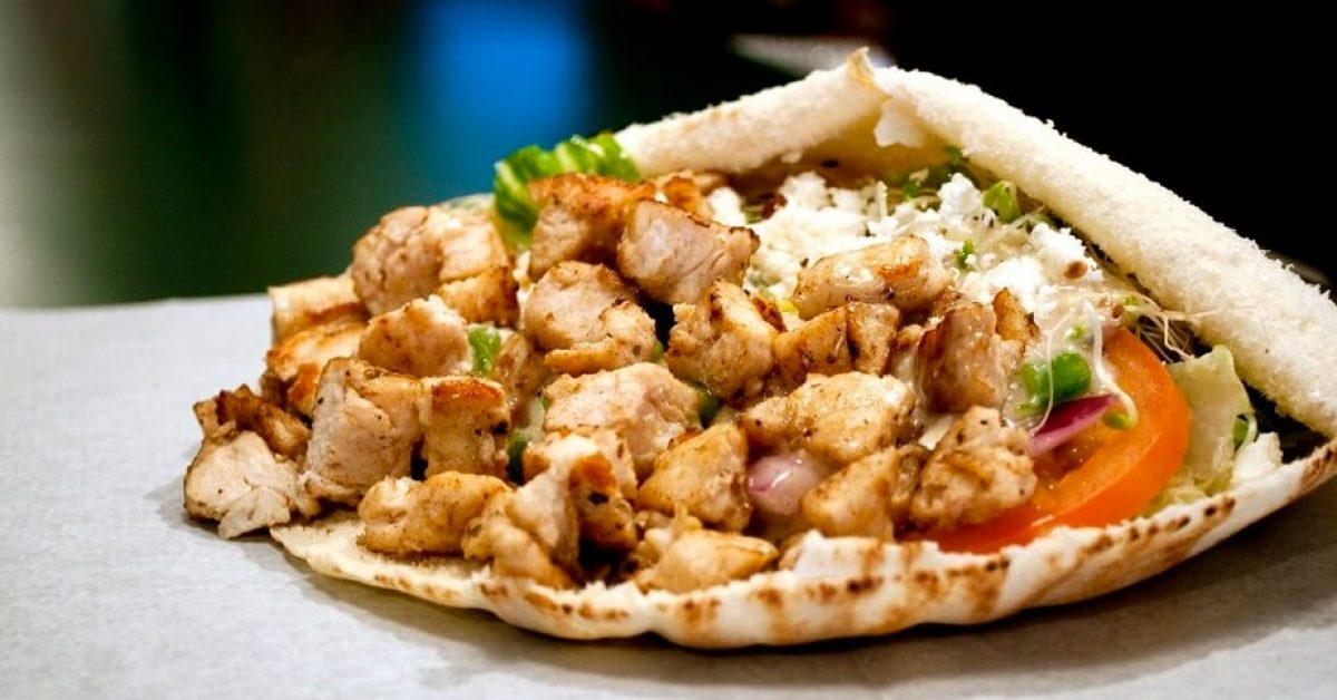 30 Minute Chicken Lime Gyros with Feta Cheese