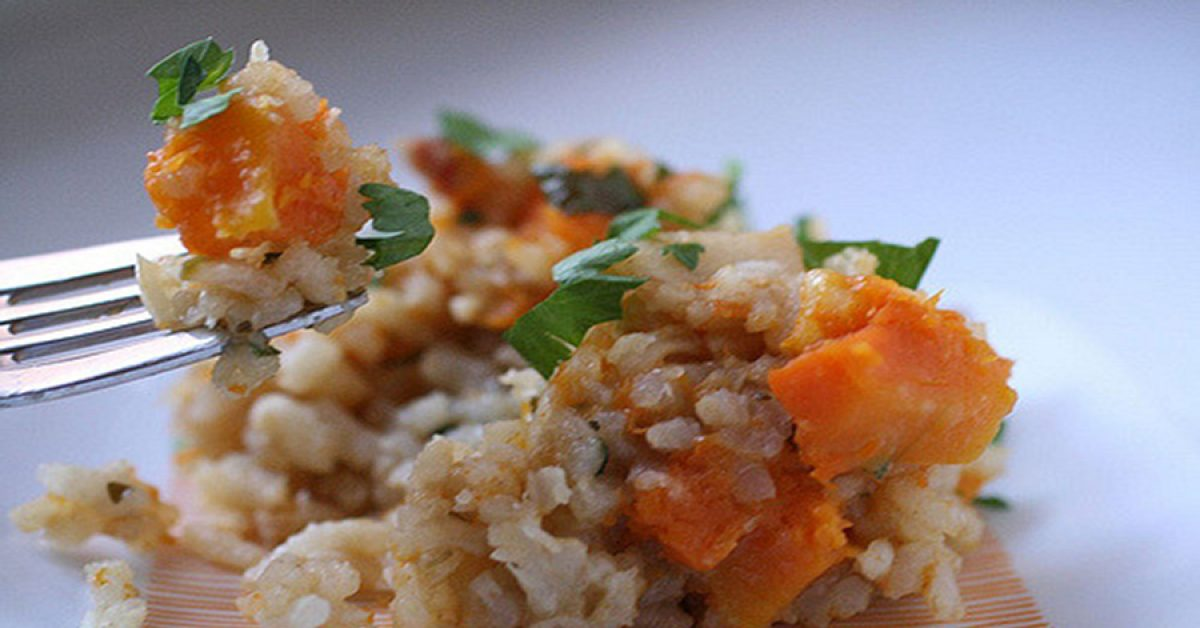 Roasted butternut vegetarian risotto