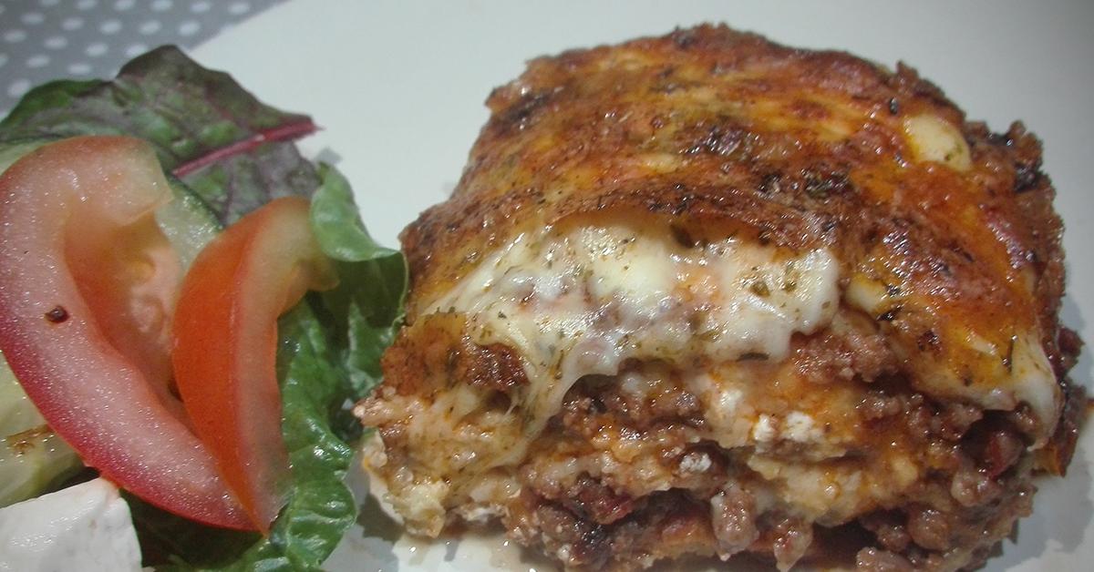 Keto friendly no pasta beef lasagna