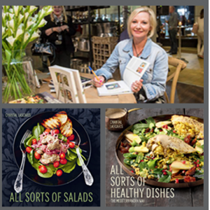 Book covers of All Sorts of Salads and All Sorts of Healthy Dishes