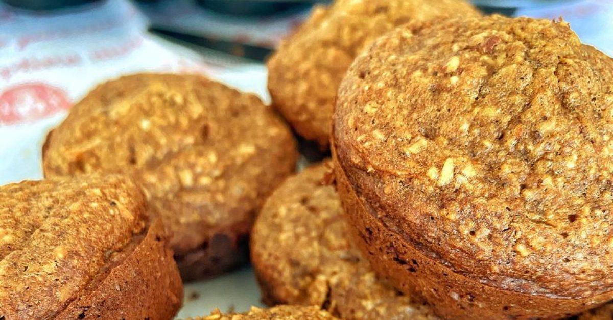 Gluten-free healthy butternut and almond muffins