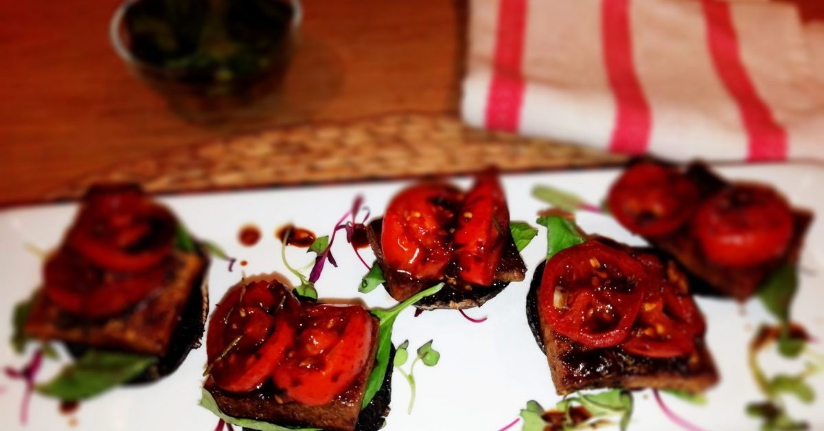 Basil & balsamic glazed tofu bites