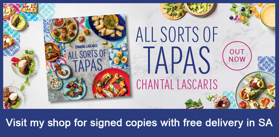 All Sorts of Tapas recipe book advert for signed copies available on my online shop.